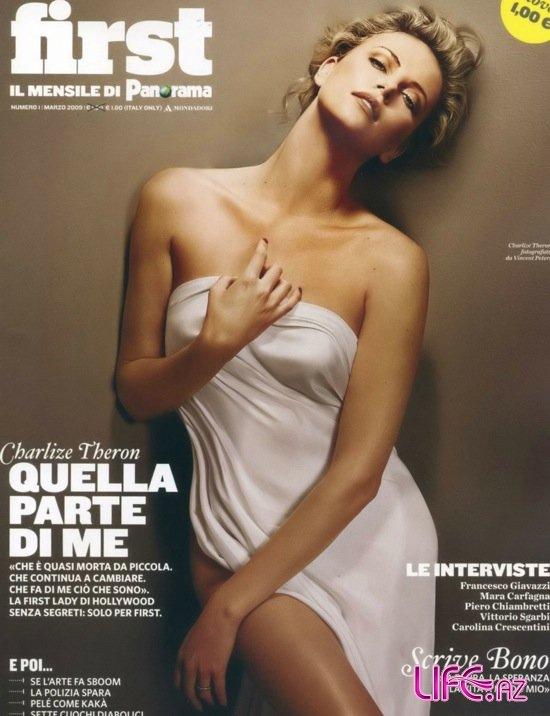 Шарлиз Терон (Charlize Theron) в фотосессии для журнала Panorama First (Ита ...