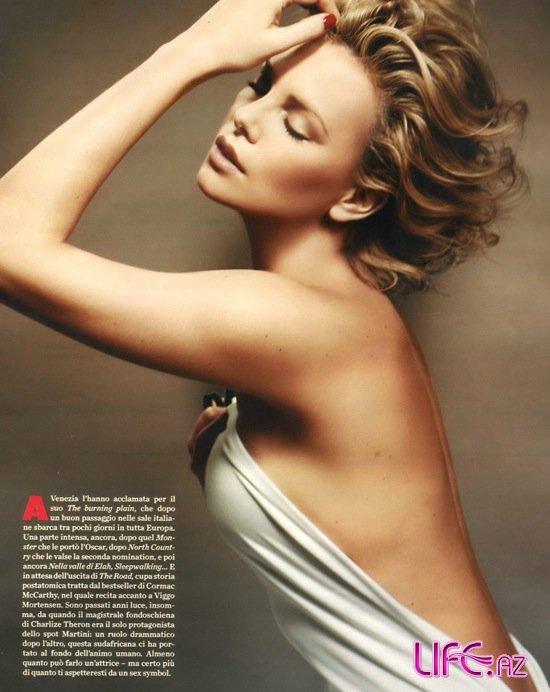Шарлиз Терон (Charlize Theron) в фотосессии для журнала Panorama First (Италия) Март 2009.