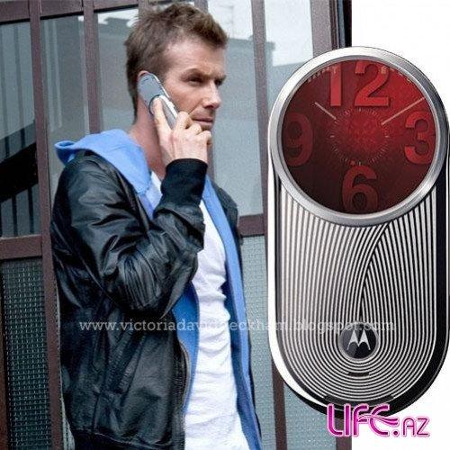 Дэвид Бэкхем в рекламе Motorola