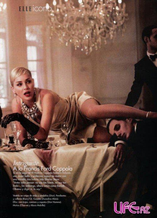 Шэрон Стоун в журнале Elle Аргентина. Май 2009 [5 фото]