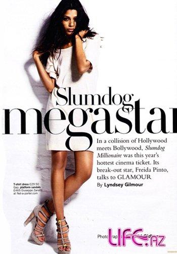 Фрида Пинто в журнале Glamour [3 фото]
