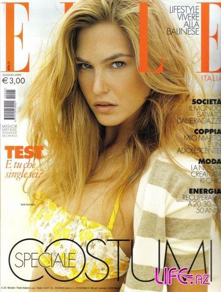 Бар Рафаели в журнале Elle. Италия. Июнь 2009.