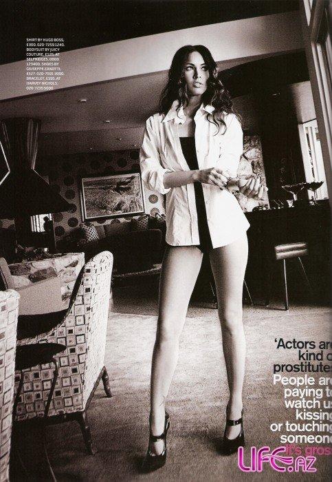 Меган Фокс в журнале GQ UK Июль 2009 - Сравнила индустрию, которая сделала ее звездой с самой древней профессией. [8 фото]