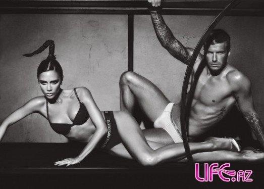 Виктория и Дэвид Бэкхем в рекламе нижнего белья Emporio Armani