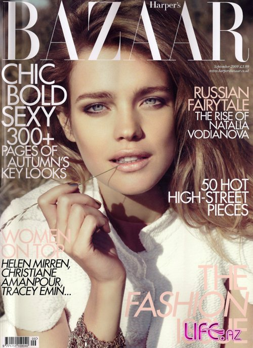 Наталья Водянова для Harper's Bazaar UK September 09 [6 фото]