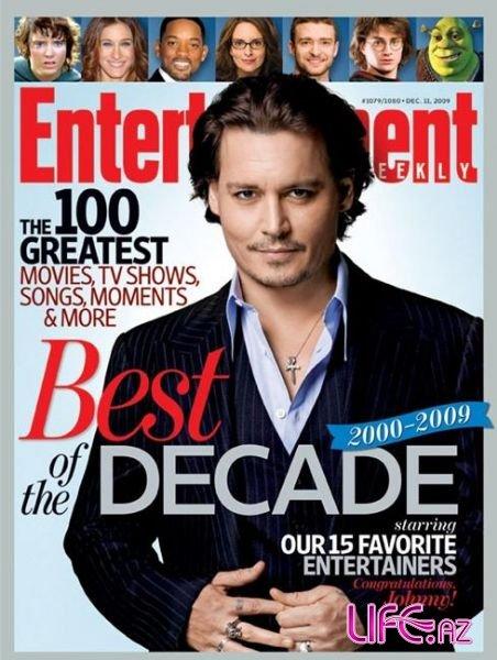 Джонни Депп на обложке журнала Entertainment Weekly