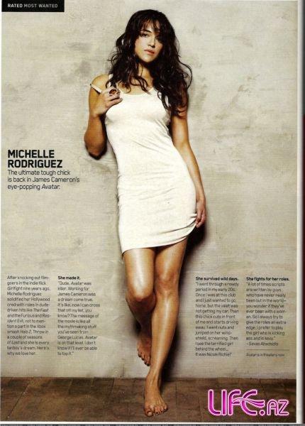 Мишель Родригес в журнале Maxim. Январь 2010
