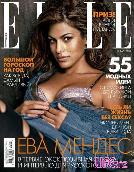 Ева Мендес в журнале Elle. Россия. Январь 2010