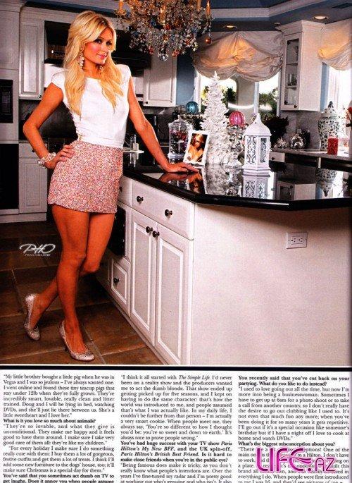 Журнал Hello в гостях у Пэрис Хилтон накануне Рождества. Январь 2010