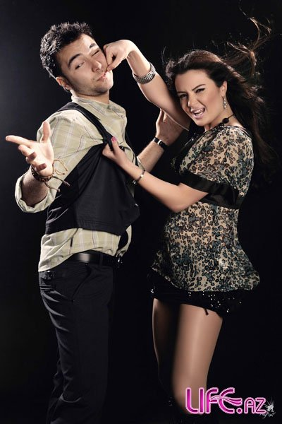 Креативность кандидатов от Азербайджана на «Евровидение 2010» продолжается: Азад Шабанов и Айсель Теймурзаде [12 фото]