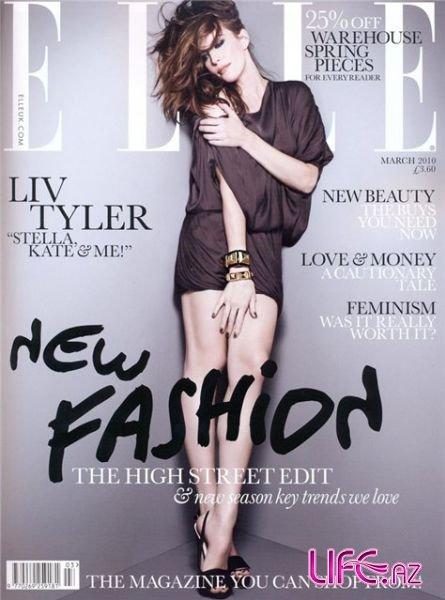 Лив Тайлер в журнале Elle UK. Март 2010