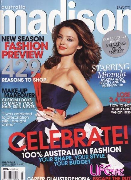 Миранда Керр в мартовском журнале Madison Australia