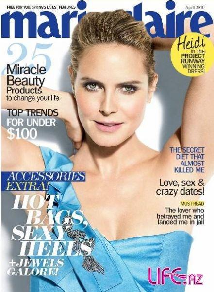 Хайди Клум в журнале Marie Claire.Апрель 2010
