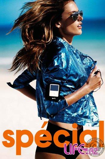 Алессандра Амбросио в пляжной фотосессии Elle