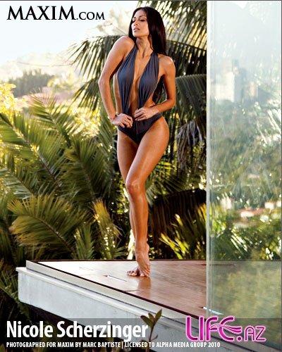 Фотосессия Николь Шерзингер для журнала Maxim. Июль 2010
