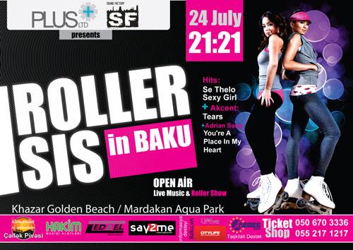 Сексапильные девушки из Roller Sis выступят в Баку