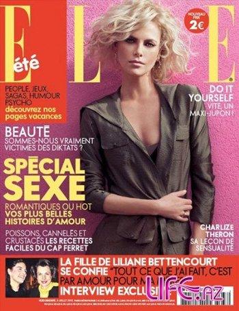Чувственная Шарлиз Терон в фотосессии Elle