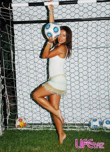 Неравнодушная к футбольному мячу Валида Аббасова