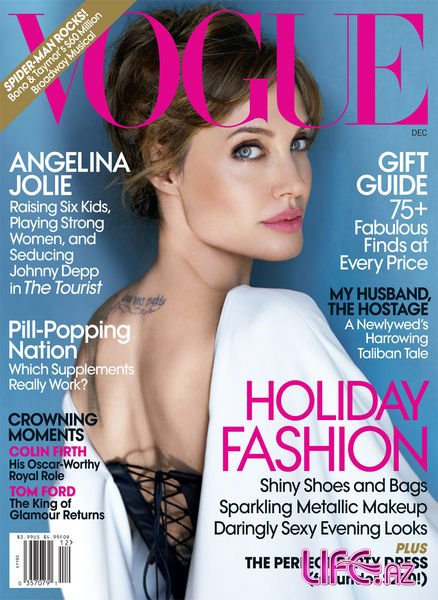 Анджелина Джоли дала интервью журналу Vogue [5 фото]