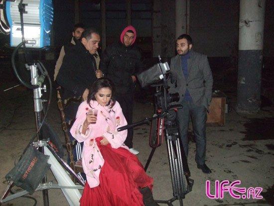 Кадры со съемок клипа певицы Азери гызы Гюнель [Фото]