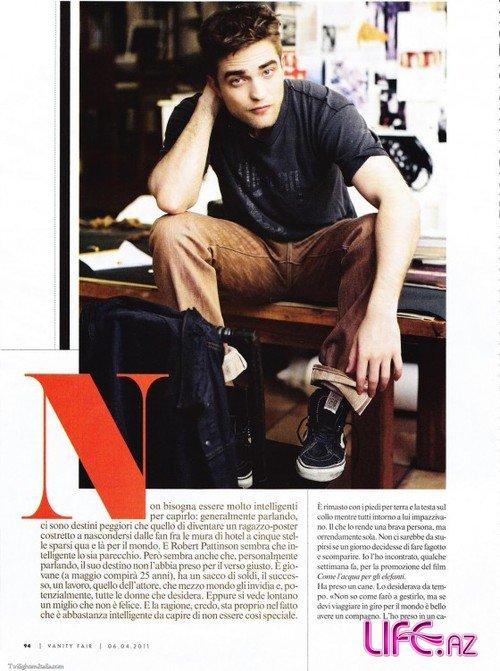 Роберт Паттинсон в апрельском номере журнала Vanity Fair Италия [Фото]