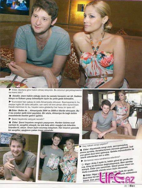 Интервью Эльдара Гасымова и Нигяр Джамал для местного журнала [Фото]