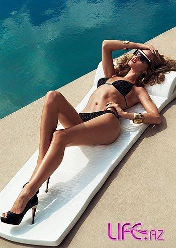 Рози Хантингтон-Уайтли в Harper`s Bazaar в летнем стиле [Фото]
