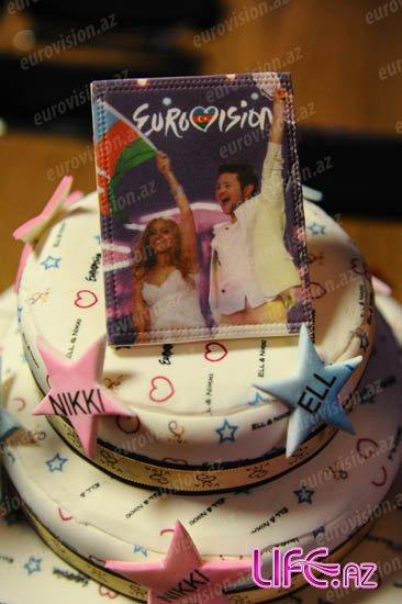 В «EuroClub» отметили годовщину победы Азербайджана на «Eurovision-2011» [Фото][Видео]