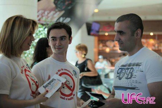 Азербайджанская певица приняла участие в акции против табака [Фото]