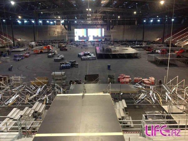«Crystal Hall Baku» готовится к концерту Дженнифер Лопес [Фото]