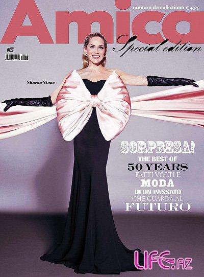 Шарон Стоун снялась для итальянского глянца Amica