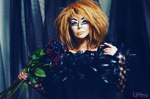 Айгюн Кязымова в необычном образе на Хэллоуин