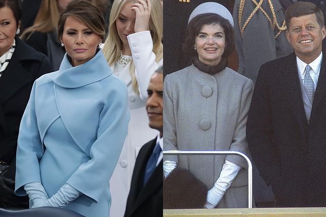 Наряд Мелании Трамп сравнили со стилем Жаклин Кеннеди в день инаугурации