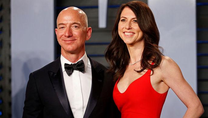Сколько миллиардов после развода получит жена самого богатого человека в мире Джеффа Безоса