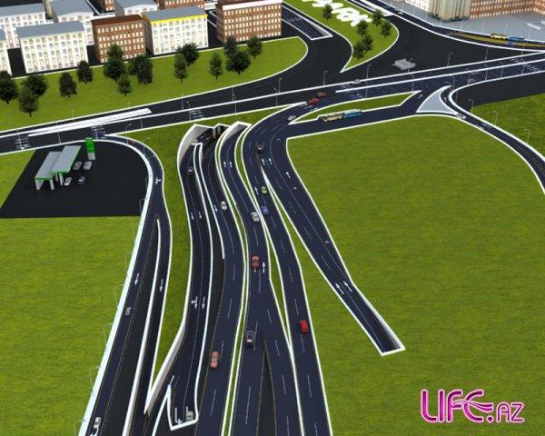 Новый макет развязки на площади Гялябя около метро Гянджлик [Фото]